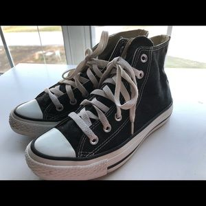 Black High Top Converse, Womens Size 6 1/2